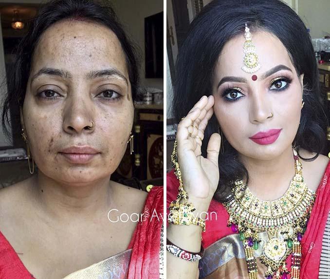 Γυναίκες πριν και μετά την μεταμόρφωση με μακιγιάζ που μοιάζουν άλλος άνθρωπος (1)