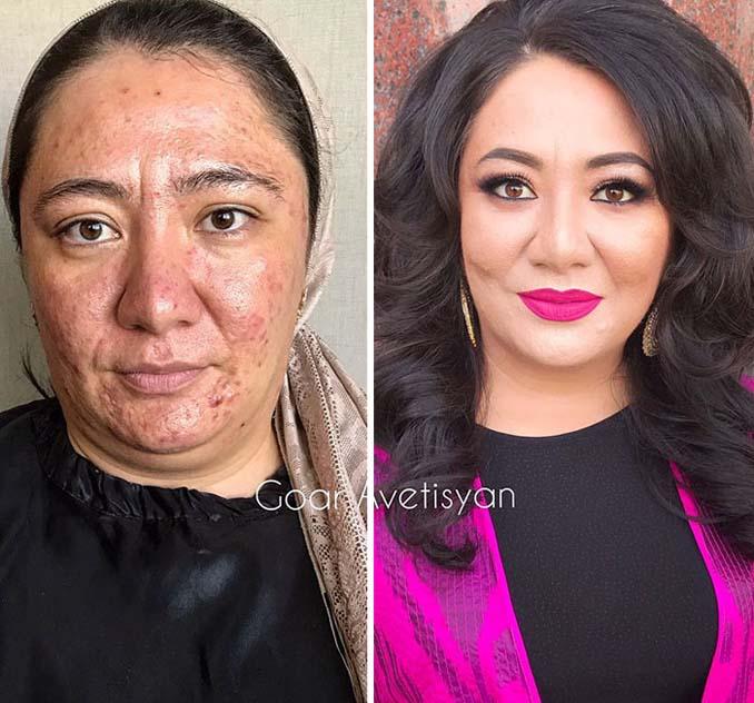 Γυναίκες πριν και μετά την μεταμόρφωση με μακιγιάζ που μοιάζουν άλλος άνθρωπος (4)
