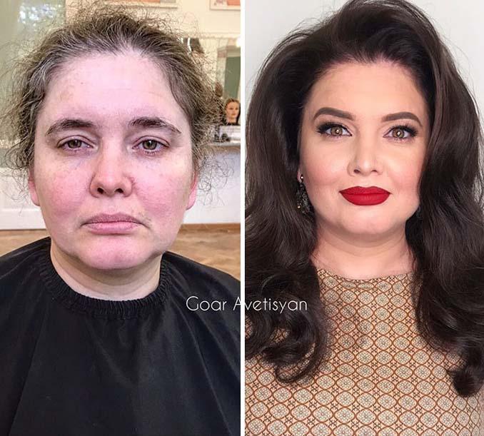 Γυναίκες πριν και μετά την μεταμόρφωση με μακιγιάζ που μοιάζουν άλλος άνθρωπος (5)