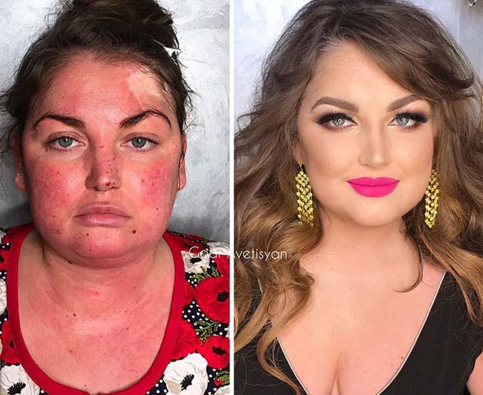 Γυναίκες πριν και μετά την μεταμόρφωση με μακιγιάζ που μοιάζουν άλλος άνθρωπος (8)