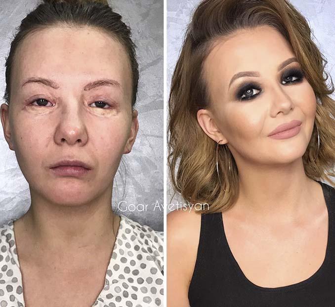 Γυναίκες πριν και μετά την μεταμόρφωση με μακιγιάζ που μοιάζουν άλλος άνθρωπος (9)