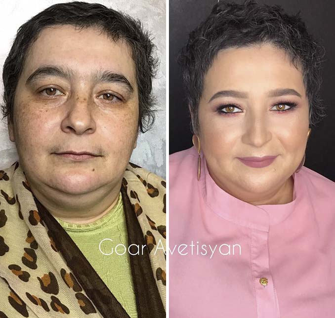 Γυναίκες πριν και μετά την μεταμόρφωση με μακιγιάζ που μοιάζουν άλλος άνθρωπος (12)