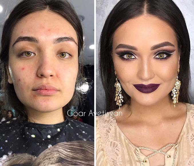 Γυναίκες πριν και μετά την μεταμόρφωση με μακιγιάζ που μοιάζουν άλλος άνθρωπος (16)