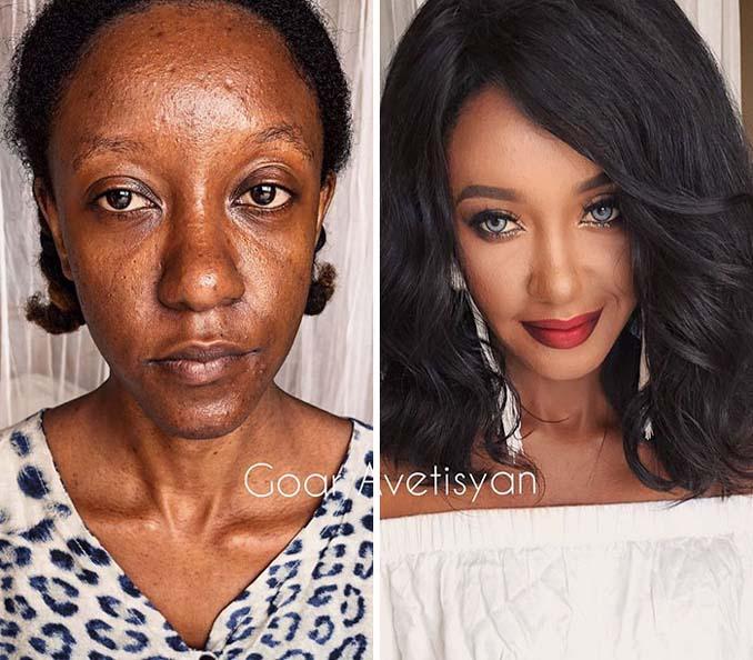 Γυναίκες πριν και μετά την μεταμόρφωση με μακιγιάζ που μοιάζουν άλλος άνθρωπος (18)