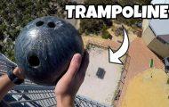 Τι θα συμβεί αν ρίξεις μπάλα του bowling σε τραμπολίνο από ύψος 45 μέτρων