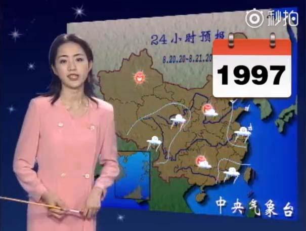 Παρουσιάστρια του καιρού από την Κίνα δεν έχει γεράσει καθόλου τα τελευταία 22 χρόνια (2)
