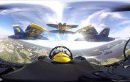 Πετάξτε με τους θρυλικούς Blue Angels μέσα από ένα εκπληκτικό βίντεο 360 μοιρών