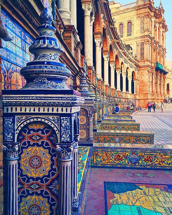 Η πολύχρωμη αρχιτεκτονική της Σεβίλλης | Φωτογραφία της ημέρας