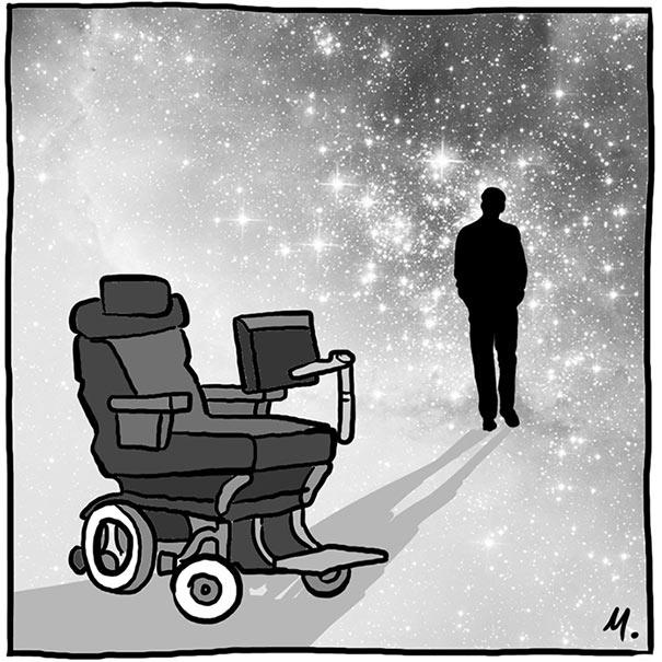 Σκίτσο αποδίδει φόρο τιμής στον Stephen Hawking με αφορμή τον θάνατο του | Φωτογραφία της ημέρας
