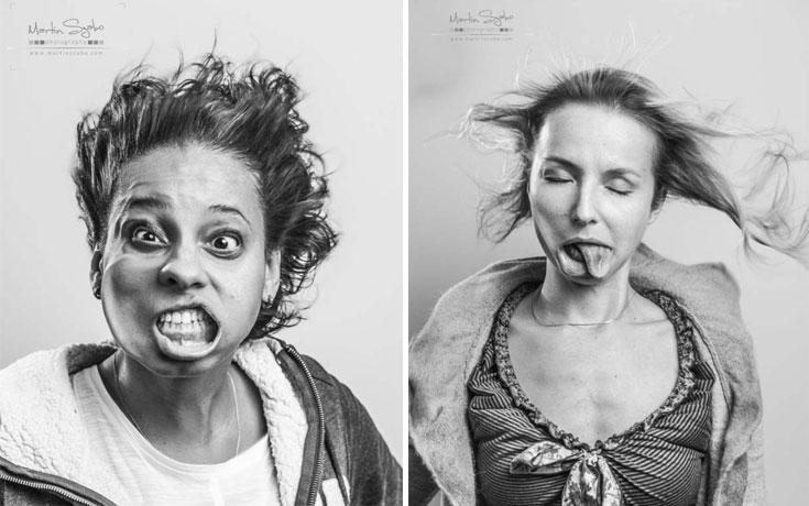 Πορτρέτα ανθρώπων μπροστά σε έναν φυσητήρα που εκτοξεύει αέρα με 385 χλμ/ώρα