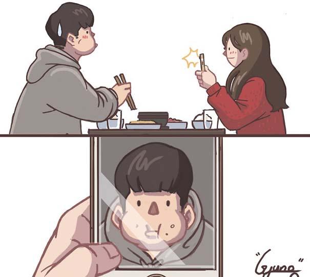 Σκίτσα με τα οποία κάθε αυτοκόλλητο ζευγάρι θα ταυτιστεί (15)