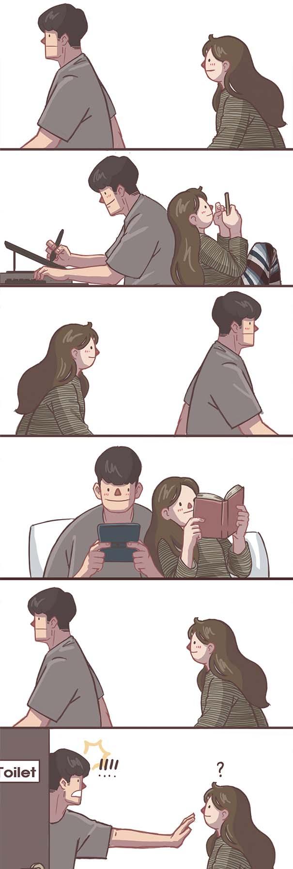 Σκίτσα με τα οποία κάθε αυτοκόλλητο ζευγάρι θα ταυτιστεί (18)