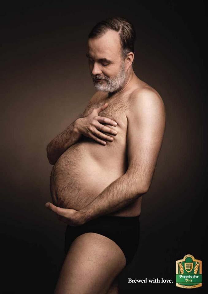 Ξεκαρδιστικές φωτογραφίες εγκυμοσύνης με μπυροκοιλιές (2)