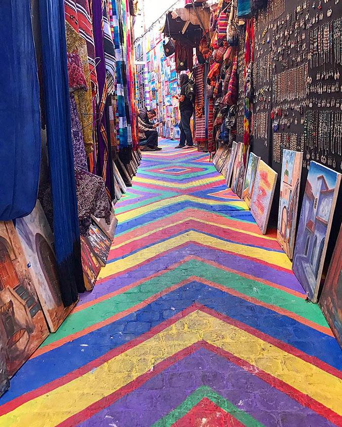 Σοκάκι ουράνιο τόξο στο Μαρόκο | Φωτογραφία της ημέρας