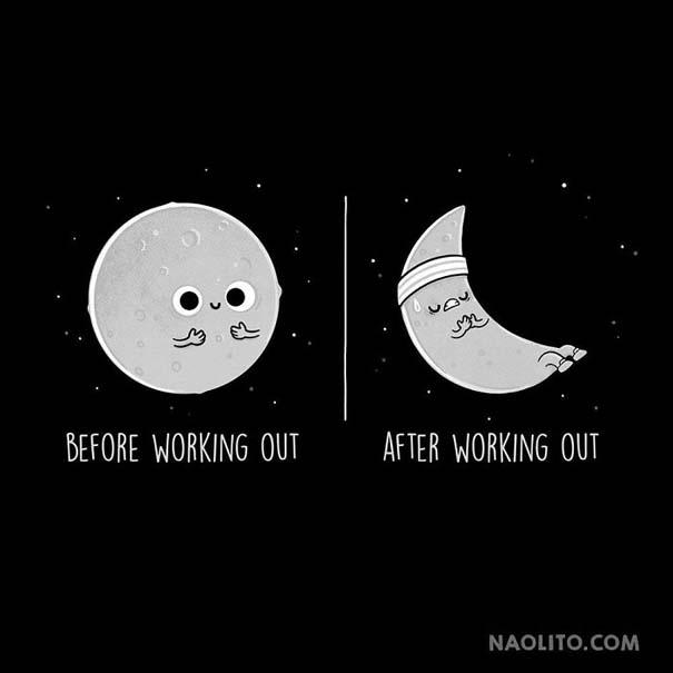 Σκίτσα «πριν και μετά» που θα σας κάνουν να ταυτιστείτε (2)