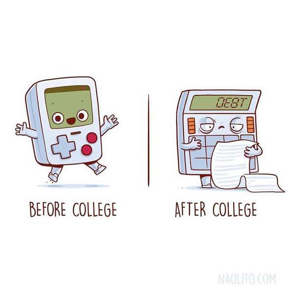 Σκίτσα «πριν και μετά» που θα σας κάνουν να ταυτιστείτε (9)