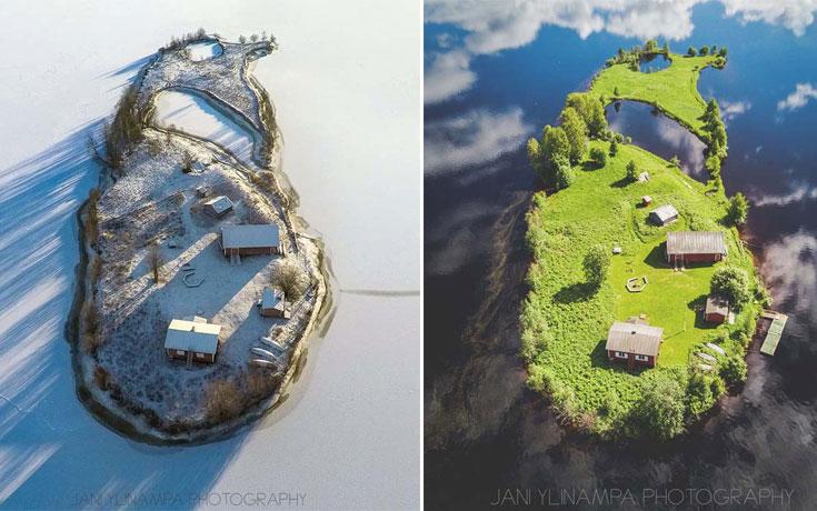 Οι τέσσερις εποχές σε ένα νησάκι στη Φινλανδία