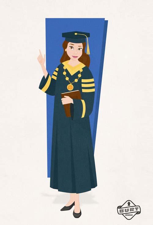 Σκιτσογράφος δείχνει τι καριέρα θα ακολουθούσαν σήμερα οι πριγκίπισσες της Disney (9)