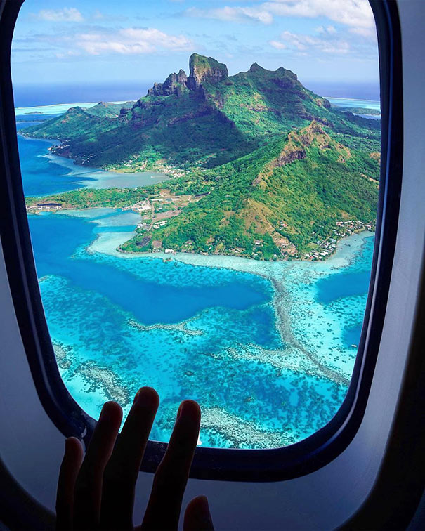 Μαγική θέα από το παράθυρο του αεροπλάνου | Φωτογραφία της ημέρας