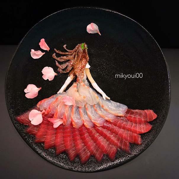 Σεφ μετατρέπει το σερβίρισμα sashimi σε έργα τέχνης (1)