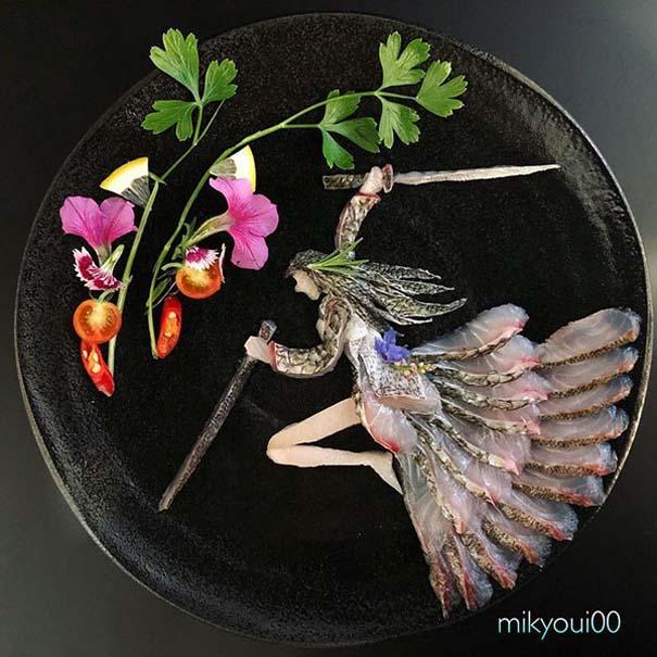 Σεφ μετατρέπει το σερβίρισμα sashimi σε έργα τέχνης (2)