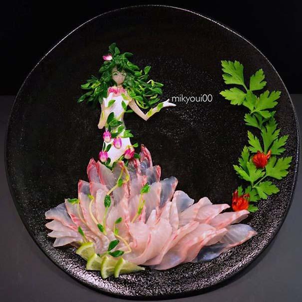 Σεφ μετατρέπει το σερβίρισμα sashimi σε έργα τέχνης (7)